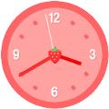 アナログ時計(イチゴ)