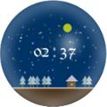 デジタル時計(雪)