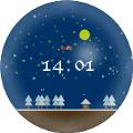 デジタル時計(雪)クリスマスver