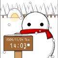 デジタル時計(雪だるま)