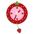 イチゴの振り子時計