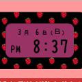 イチゴのデジタル時計(黒)