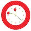 さくらんぼのアナログ時計
