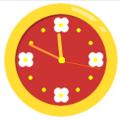 フラワーアナログ時計